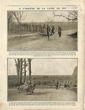 Tranchée Poilus Boulangerie Militaire de Campagne/prisoners Soldiers 1915 WWI