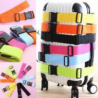 2 x PINK Adjustable Strong Safety Travel Suitcase Luggage Baggage Straps Belt