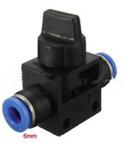 6 - 6mm Pneumatic Valve Straight fitting Quick Push fit pipe air fittings 2 Way