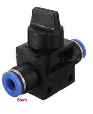 6-Válvula neumática 6 mm recto calce ajuste rápido empuje Tubo Accesorios de aire de 2 vías