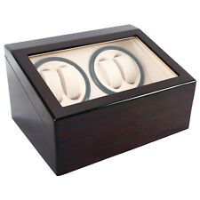 Automatic Watch Winder 4+6 Display Box Storage Wooden Case Container Luxury Gift