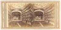Napoli Théâtre S.Carlo Foto Di Dopo Incisione Stereo PL56L1n Vintage Albumina
