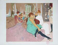 """Salinas & Toulouse-Lautrec """"Au Salon de la Rue des Moulins"""" Signed Lithograph"""