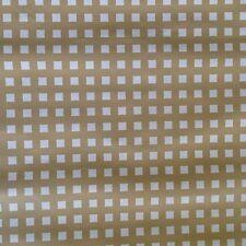Mid Century Modern David and Dash Vintage Tan White Geometric 60s Wallpaper Roll