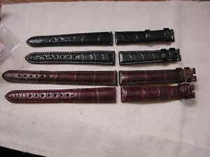 Alligator Watch strap 16mm lug 14mm buckle Black regular - Chronoswiss Handmade