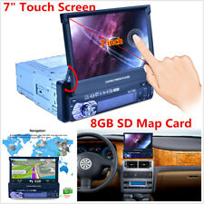 7'' HD Bluetooth Touch Screen Car Stereo Radio FM/MP5/AUX W/GPS Navigation Card