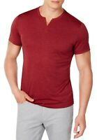 Alfani Mens T-Shirt Port Red Size Small S End-on-End Dot Split V-Neck $40 012