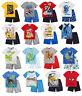 Boys Official Licensed Short Sleeve Summer Pyjamas PJs 3 - 12 Years
