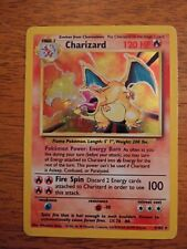 Original Base Charizard 4/102 Holographic Pokemon Lightly Played Condition