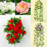 8Ft Artificial Rose Garland Silk Flower Vine Ivy Wedding Garden String Decor Bs