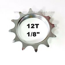 """12T COG FIXED GEAR TRACK 12 TOOTH CHROME PLATE 1/8 INCH 1/8"""" FIXIE"""