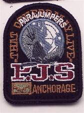ORIG negro parajumpers PJS Patch Patch abrigo chaqueta Long velcro logotipo Emblem