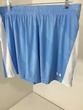 Under Armour Women'S Fixture Soccer Shorts Powder Blue/White Large $25