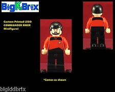 COMMANDER WiLLIAM RIKER Star Trek Custom LEGO Minifigure NO DECALS USED!
