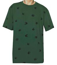 091bb86d2805 McQ Alexander McQueen Men's Swallow Swarm Flock T-Shirt military green color