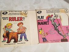 Play With A Magnet / Measure With A Ruler Object Book and Record 1972 Cbs