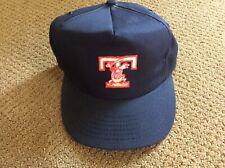 VINTAGE 80s TOLEDO MUD HENS Snapback Minor Baseball Hat CAP Blue MADE IN THE USA