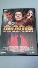 """DVD """"CONFESIONES DE UNA MENTE PELIGROSA"""" GEORGE CLOONEY SAM ROCKWELL JULIA ROBER"""