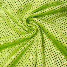 Faschingsstoff Pannesamt mit Pailletten grün 1,5m Breite
