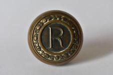New listing Jumbo Cast Brass or Bronze Reibold Building Dayton Oh R Monogram Door Knob