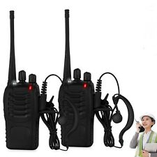 Walkie Talkie UHF 400-470MHZ Portable Long Range 2-Way Radio EU Charger+Earpiece