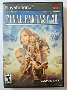 Final Fantasy XII (Sony PlayStation 2, 2006) Disk and box Tested