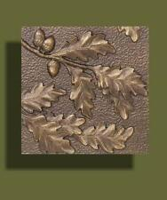 """Arts and Crafts Copper Tone Oak Leaf Tile by Whitehall 8"""" x 8"""""""