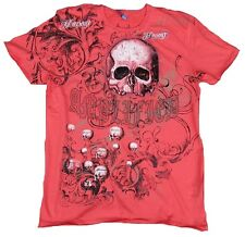 Amplified Saint & Sinner Honour skull strass rock star Desinger T-Shirt G. L/XL