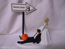 Wedding Party Event Reception ~Game Over Sign~ Basketball Sport Cake Topper