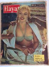Hayat Marilyn Monroe 1961 Turkish Magazine Misfits Bikini Cover Very Rare