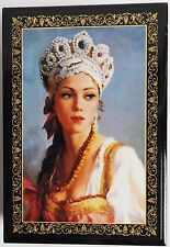 russian lacquer box new beautiful girls decoupage box gift authentic from russia