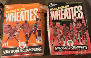 Chicago Bulls EMPTY Wheaties  Boxes (2) Breakfast of Champions!!