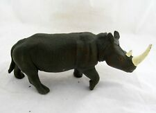 "3.5"" Rhino Rhinoceros Zoo Animal Action Figural Figure Figurine Toy Cake Topper"