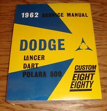 1962 Dodge Lancer Dart Polara 500 Service Shop Manual 62