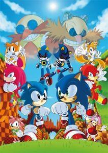 Sonic The Hedgehog Borderless Poster Print A3 (297 x 420 mm)