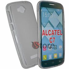 Cover Caso Para Alcatel C7 Con Un Solo Toque Pop 7040D Gel Transparente+Película