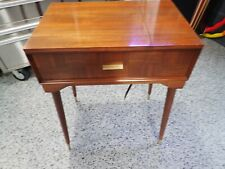 New ListingBeautiful Vintage Singer Sewing Machine Wooden Cabinet Danish Modern 503 500 401