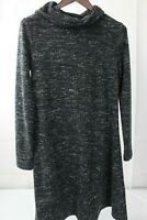 Banana Republic Stretch Polyester & Rayon Blend Cowl Neck Sweater Dress - Small