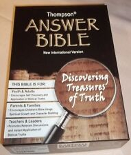Thompson Answer Bible NIV : Deluxe Rustica Bridle Brown (2010, Hardcover) NEW!