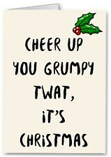 Rude / Funny Christmas Card - Premium Quality - Grumpy Adult Joke Insult Banter