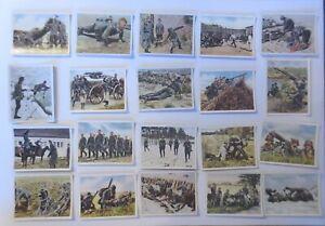 Deutsche Armee, Wehrmacht, 20 alte Sammelbilder ca. 40er Jahre  ♥ (64708)