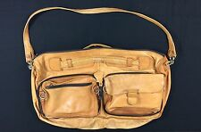 Jugar Distressed Brown Leather Messenger Bag Satchel Carry on Strap Duffle