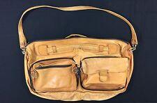 Jugar Distressed Brown Leather Messenger Bag Satchel Carry on Strap Duffle