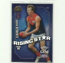 2011 AFL SELECT CHAMPIONS RISING STAR GEM MELBOURNE JORDAN GYSBERTS RSG11 CARD