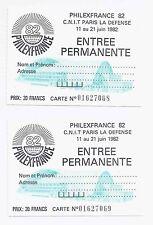 cartephilex668,69 entrée permanente