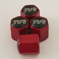 TVR metallic Red Valve Dust caps all models