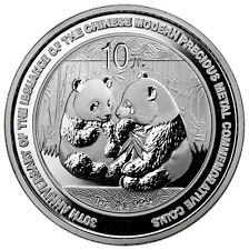 2009 China 1 oz Silver Panda BU Coin 10¥ - 30th Anniversary In Mint Cap SKU25553
