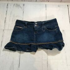 LEI Women Juniors Mini Jean Skirt Size 11 Blue Denim 100% Cotton - F46