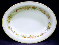 "MINT Wedgwood MIRABELLE Oval 10"" SERVING Vegetable BOWL Bone China ENGLAND Plate"