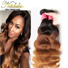 Ombre Brazilian Virgin Wavy Hair Bundle100g Three Tone Body Wave Hair Extensions